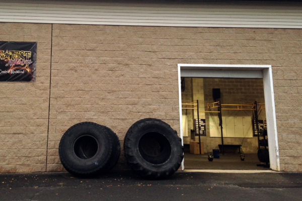 Outside view with our BIG ASS TIRES!